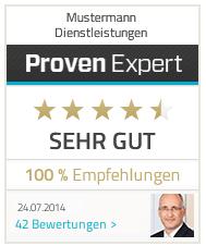 100% Empfehlung von Profen Expert