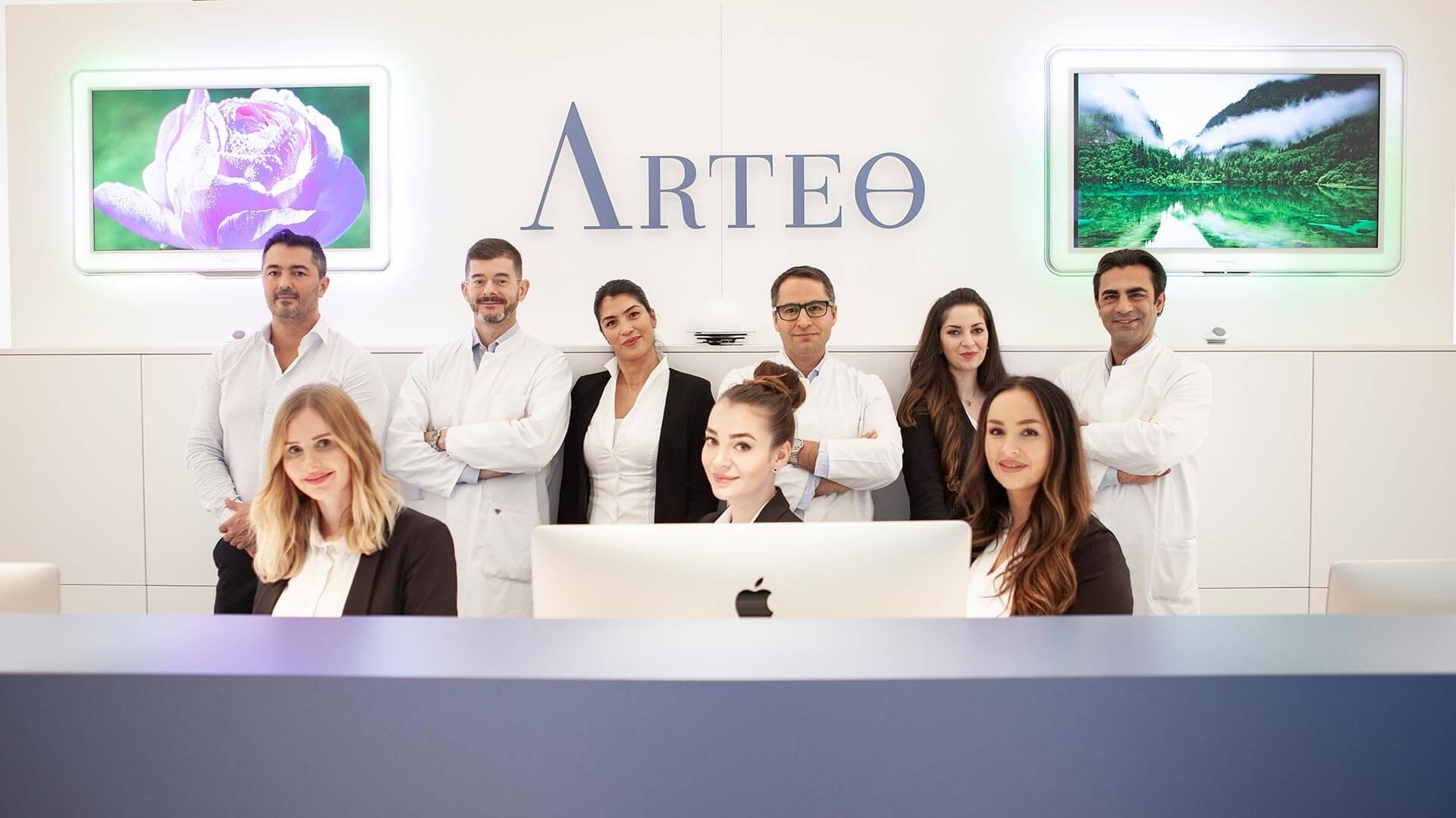 Das Team der Arteo Klinik für plastische Chirurgie in Düsseldorf